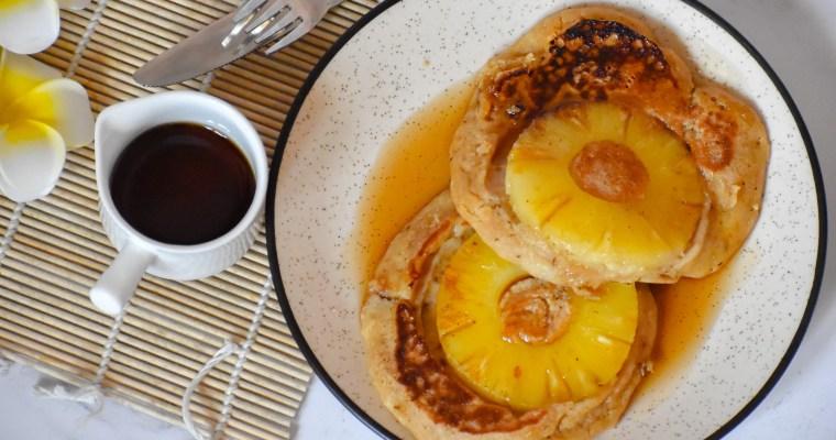 Upside Down Caramelized Pineapple Pancake