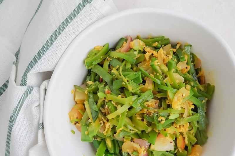 Avarakkai poriyal || Broad beans stir-fry