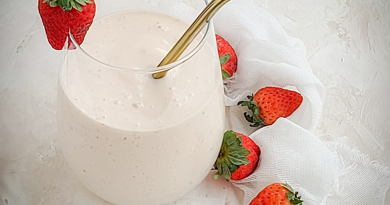 Strawberry Coconut Oatmeal Smoothie