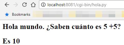 Script ejecutado a través de servidor HTTP