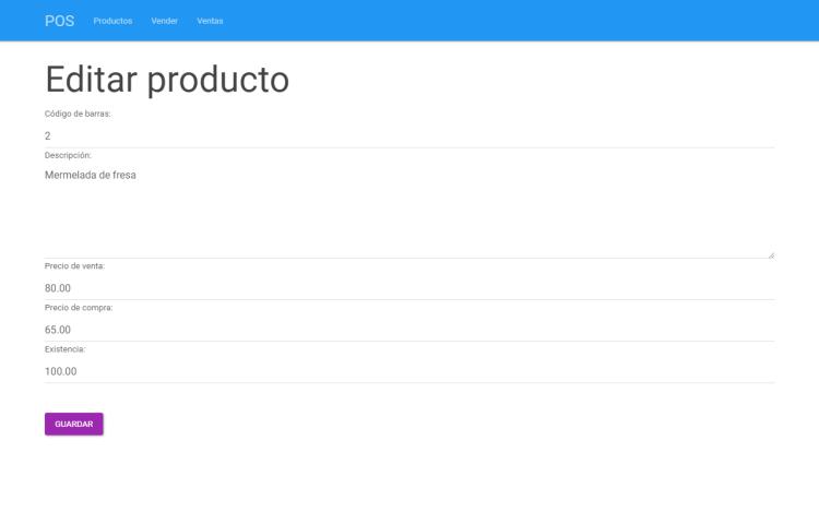 Editar un producto