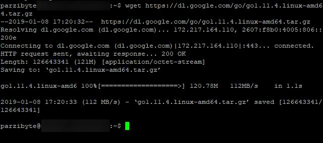 Descargar Go en Linux