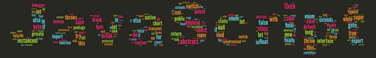 Fondo de pantalla de palabras reservadas del lenguaje JavaScript