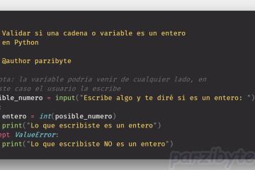 Validar int en Python