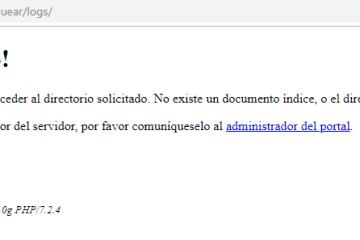 Acesso prohibido a logs creados con PHP