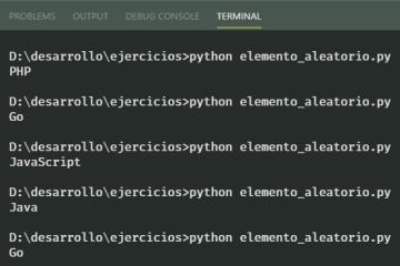 Elegir elemento aleatorio de lista en Python