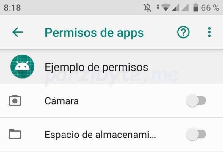 Permisos de una app de Android