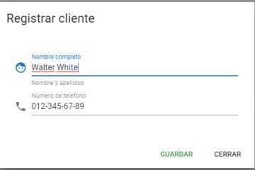 Registrar cliente al vender