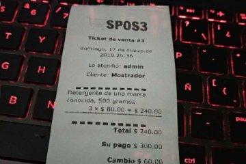 Ticket de venta impreso con Sublime POS 3