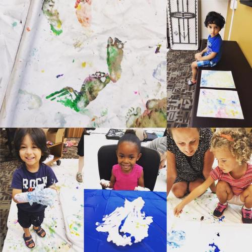Marbled Paper with Shaving Cream & Liquid Watercolors - Art & Play