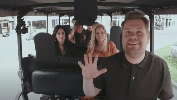 Friends carpool