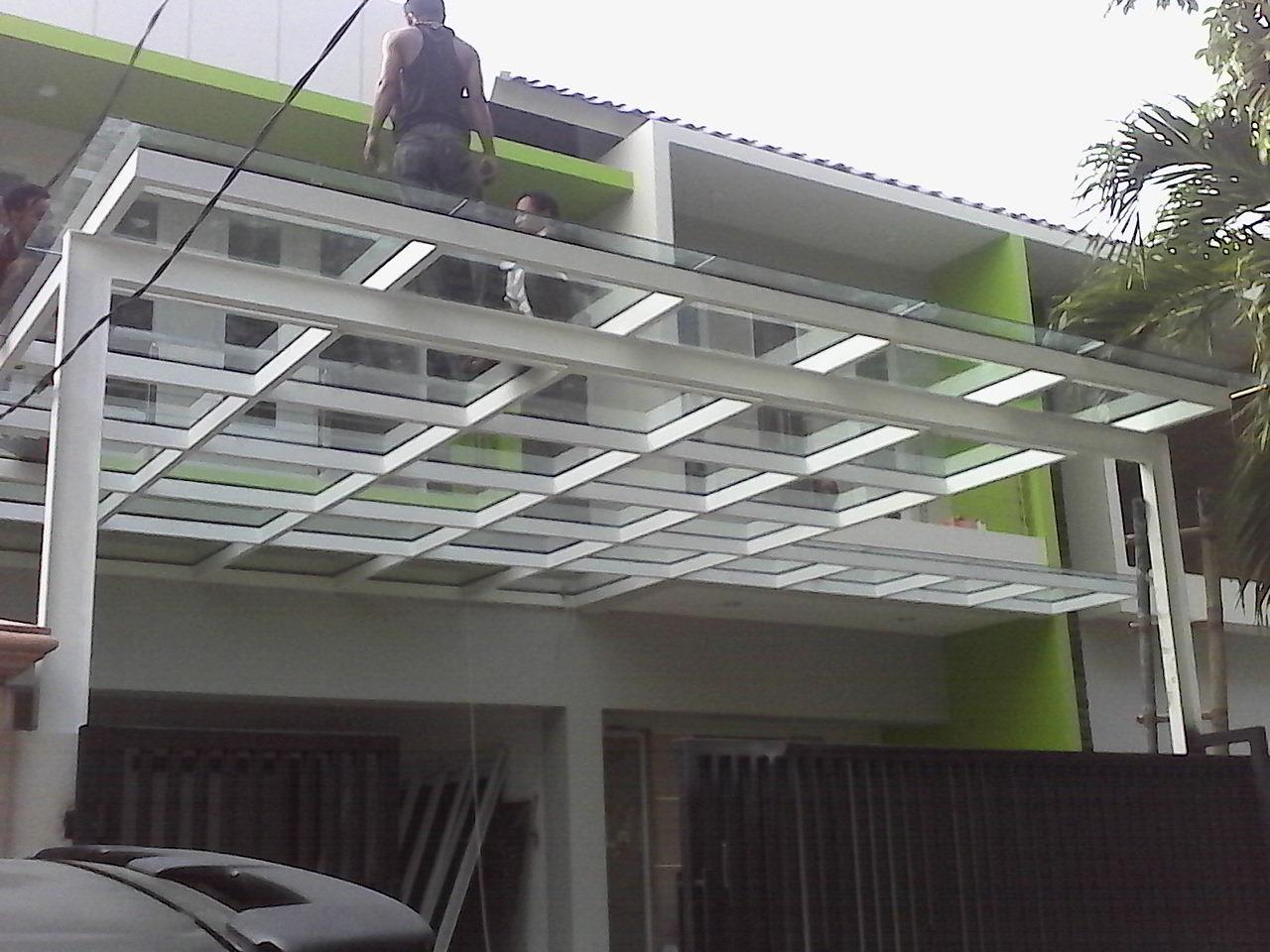 model rangka baja ringan kanopi 80 gambar sisi rumah minimalis