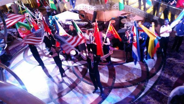 desfile de las banderas, cruceros