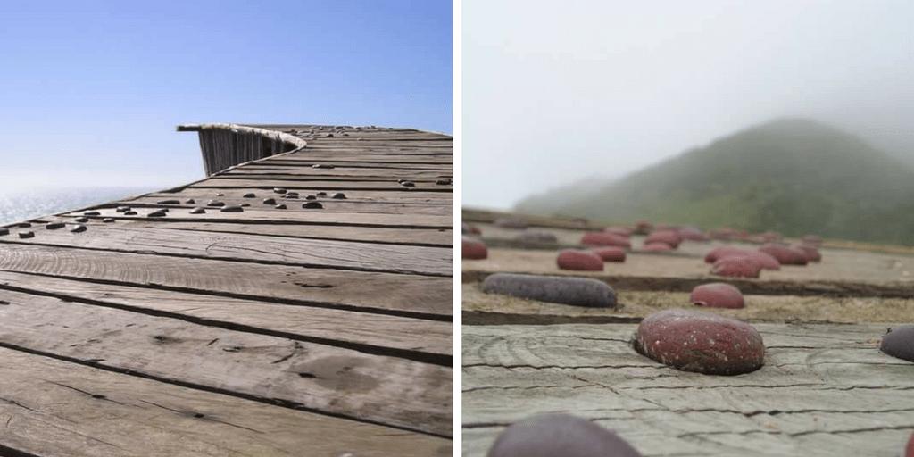 Las piedras incrustadas que representas a las llanka, que ya no están en el lugar gracias a los visitantes
