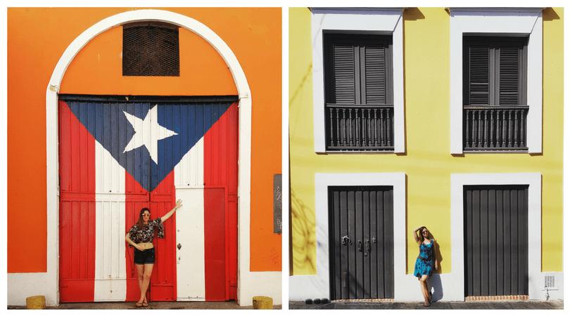 Portón de la bandera y calle del Sol