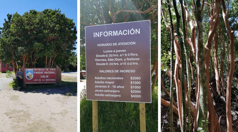 Información a la entrada del Parque Nacional Chiloé