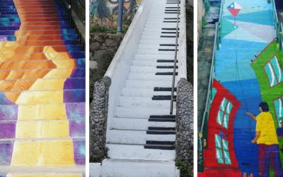 Ruta con las más lindas escaleras de Valparaíso
