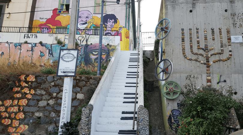 Entorno de la escalera piano