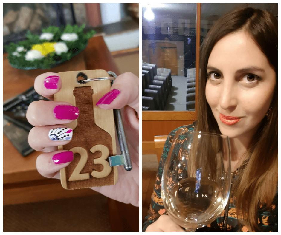 Catando los exquisitos vinos de la viña Sutil