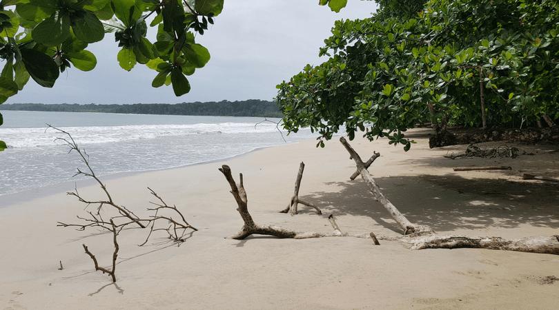 La playa de Cahuita