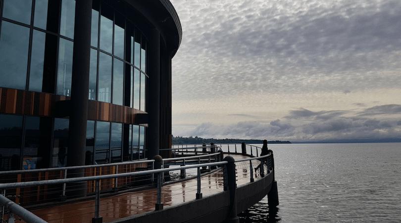 La vistas desde el Teatro del Lago son impresionantes