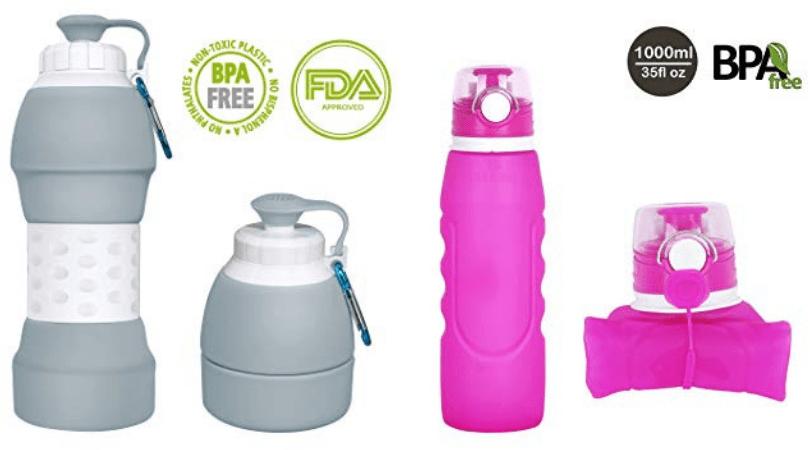 Botellas de agua reutilizables y compactables libres de BPA