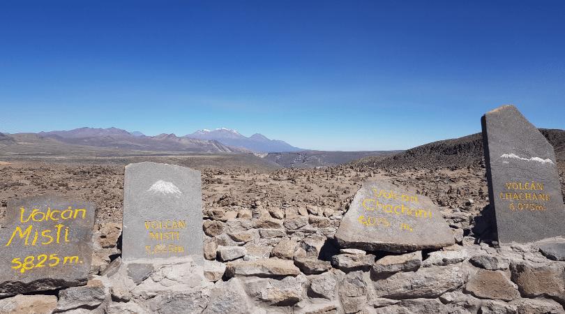 El mirador de los volcanes, el punto más alto de este tour a 4910 msnm