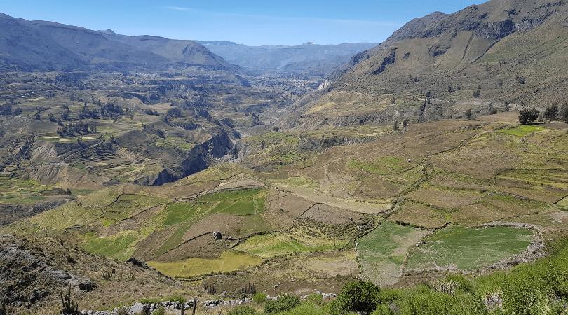 Las vistas del valle siempre verde en Madrigal