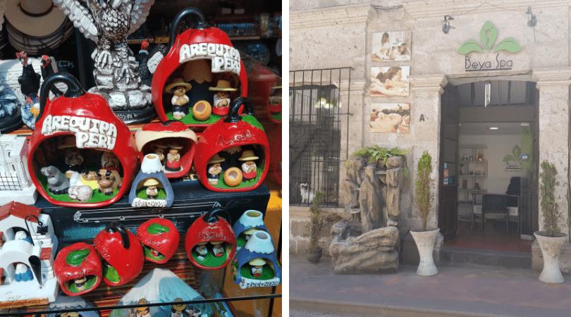 Atesanía tradicional en la misma Plaza de Armas / nuestro lugar de masajes en calle Mercaderes