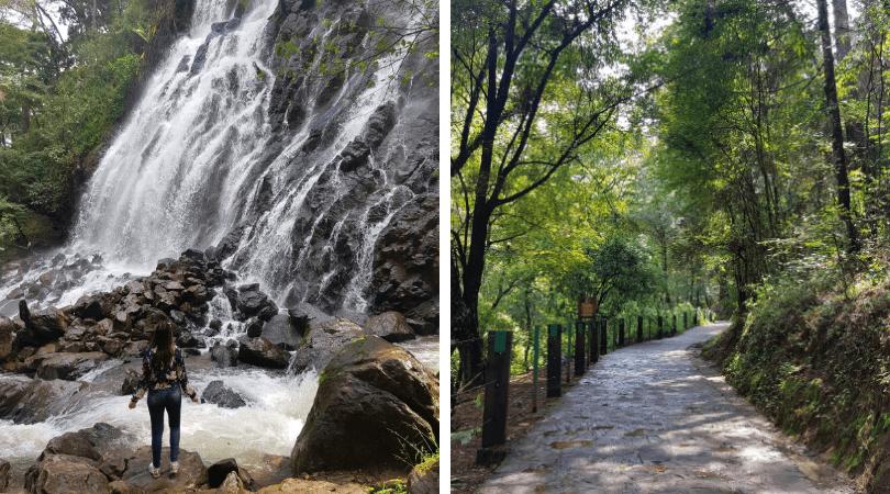 la cascada y sus senderos, un imperdible si visitas Valle de Bravo