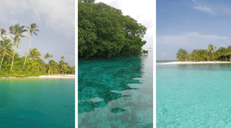 incontables tonos de azul podrás ver navegando por el archipiélago
