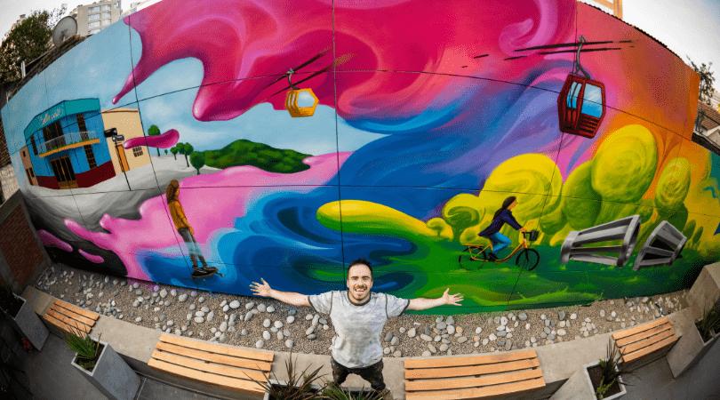 Inauguran Ibis Budget Providencia con atractivo mural de A la Pinta