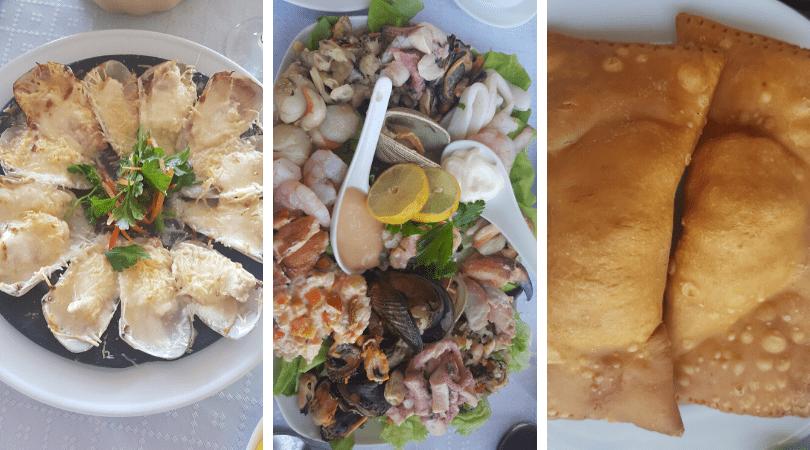 Los pescados y mariscos son regionales y se ve que están muy frescos