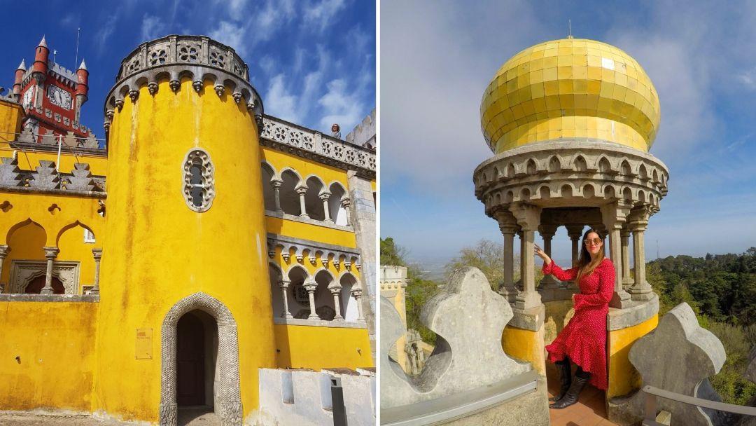 Los brillantes colores del Palacio da Pena