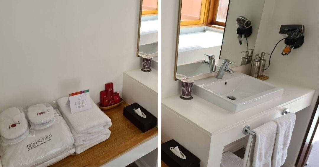 El baño cuenta con todas las amenidades necesarias para tu comodidad