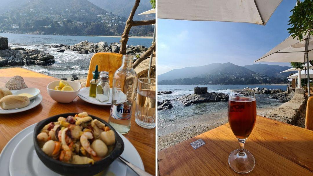 En el Chiringuito comes literal a orilla del mar