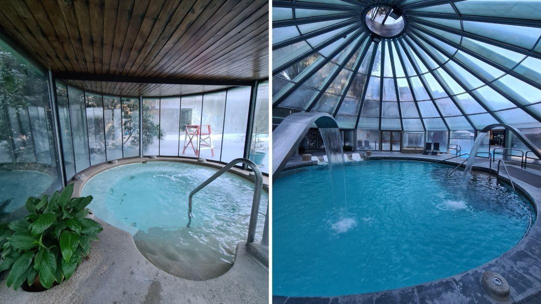 Hidromasaje y piscina interior donde requieres reserva por aforo