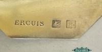 6 Ercuis Art Deco Silver Plated Menu Card Holders Paris ...