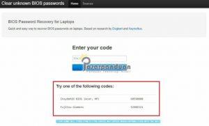 generator password bios