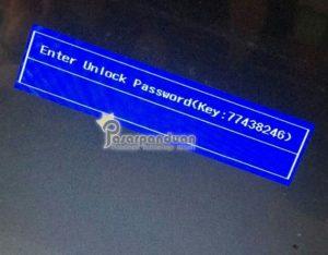 unlock password bios