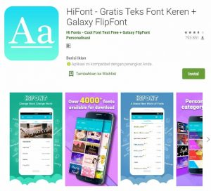 font android lucu