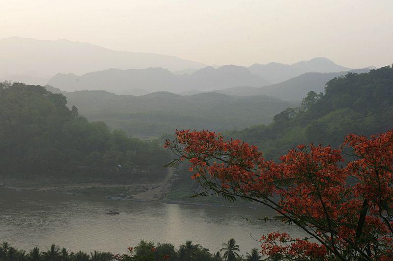 Mekongas nuo Phousy kalno.