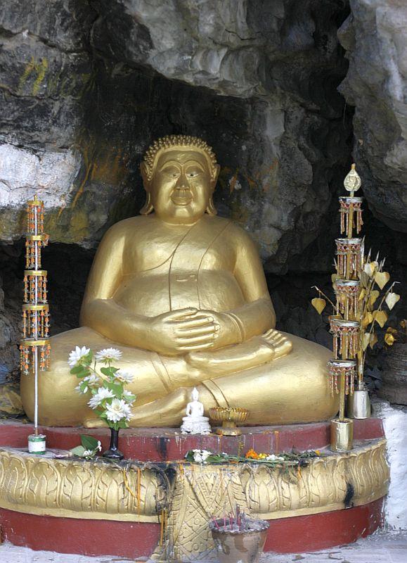 """Storuliukas Buda Luang Prabange, Phousy (tariama kaip """"pussy"""") kalne"""