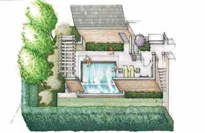 27 Walled Garden Pergola Rendering