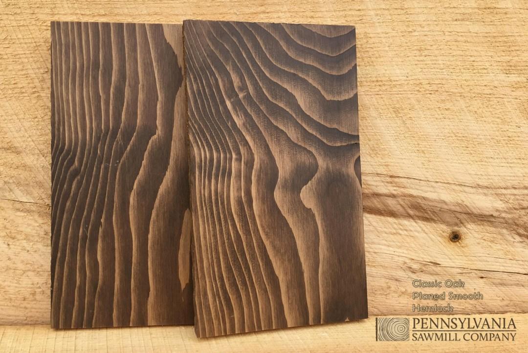 Hemlock - Planed w/ Classic Oak