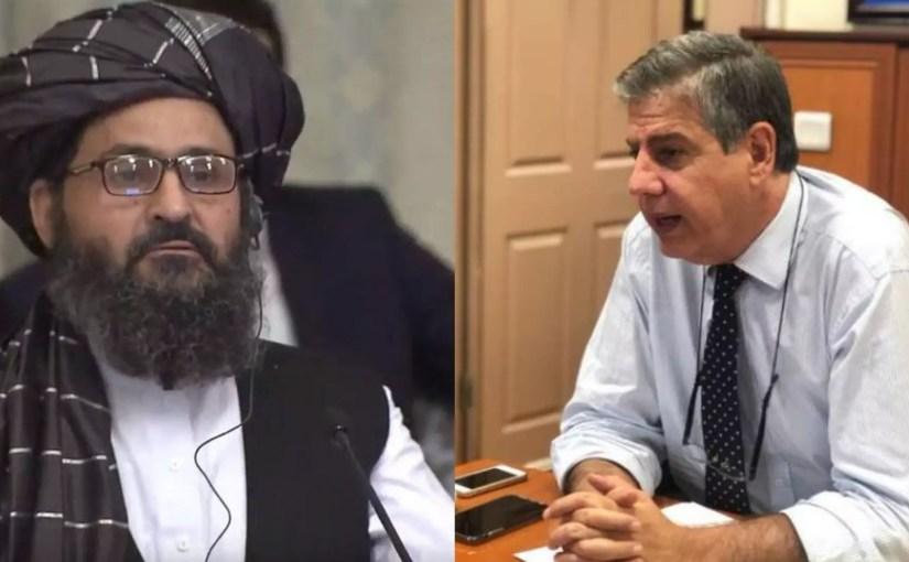 دیدار ملا برادر با نماینده ملکی ناتو در افغانستان