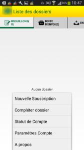 Application mobile d'ouverture de ligne téléphonique