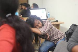 Webcup : la fatigue se fait sentir...