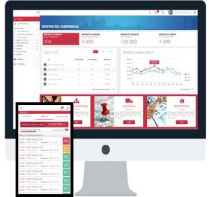 Outil mobile de réappro de point de vente et de gestion de stock roulant