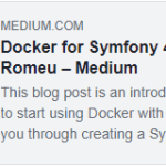 Docker for Symfony 4